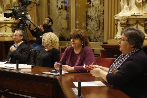 Huertas y Seijas en el Parlament en una imagen del pasado día 1 de febrero.