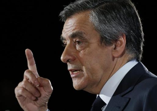El candidato de la derecha francesa a las elecciones presidenciales, François Fillon.