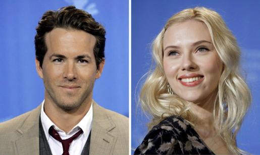 Combo de fotografías del 10 de febrero de 2008, que muestra a los actores estadounidenses Ryan Reynolds (i) y Scarlett Johansson (d), quienes anunciaron su separación.