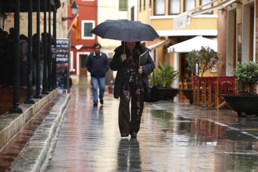 Día de lluvia en Menorca.