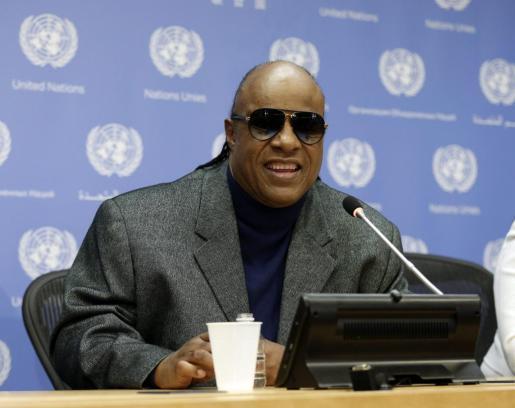 El cantante estadounidense, en una rueda de prensa ofrecida durante una reunión sobre discapacidad y desarrollo, en la sede de las Naciones Unidas en Nueva York (EE.UU.).