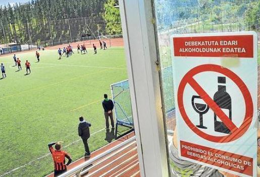 Venta de alcohol en los campos de fútbol