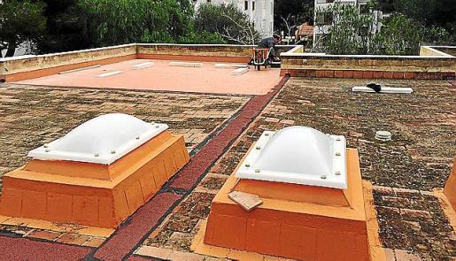 Las obras en Na Penyal consisten en la impermeabilización de la terraza.