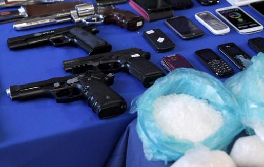 Imagen de archivo de una operación contra una red que traficaba con metanfetamina.