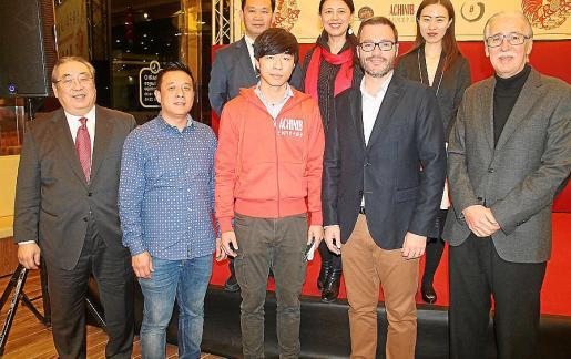 Toni Yoh, Yang Wei, Fang Ji, José Hila y Pedro Comas.