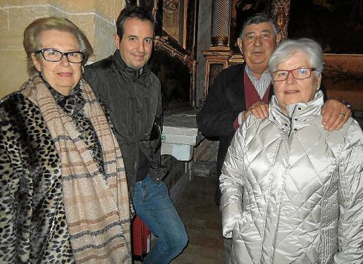 Francisca Forteza, Joan Serra, Maria Antònia Bernat y Antoni Fanals.