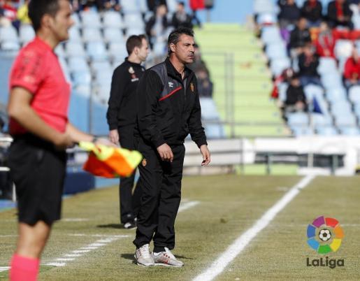 En la imagen, el entrenador del RCD Mallorca, Javier Oaizola.