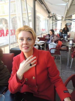 En la imagen, la exdiputada del PP y precandidata al PP balear, Aina Aguiló.