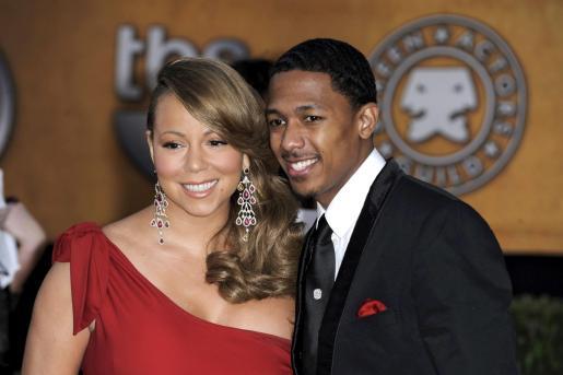 La cantante estadounidense Mariah Carey y su marido, el actor Nick Cannon.