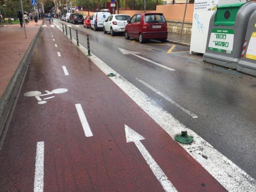 Carril bici en Palma.