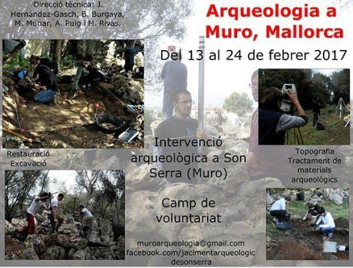 El Ajuntament de Muro organiza la tercera intervención arqueológica al yacimiento de SonSerra de Muro.