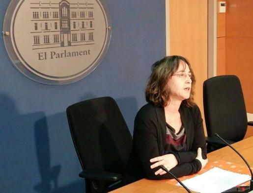 En la imagen, la diputada de Ciudadanos (Cs) en el Parlament, Olga Ballester.