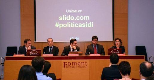 En la imagen, el director general de Innovació i Investigació del Govern, Josep Lluís Pons, en la jornada 'Políticas territoriales sobre I+D+ i' en Barcelona.