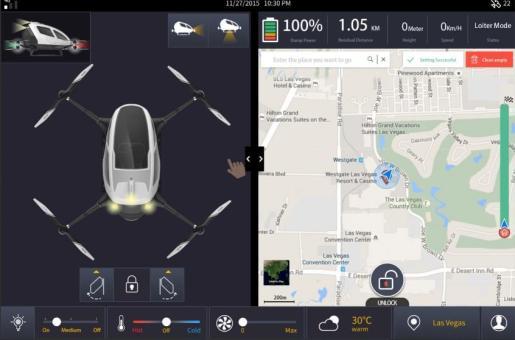 El modelo de dron autónomo podrá transportar a un ocupante y será operado desde un centro de control.
