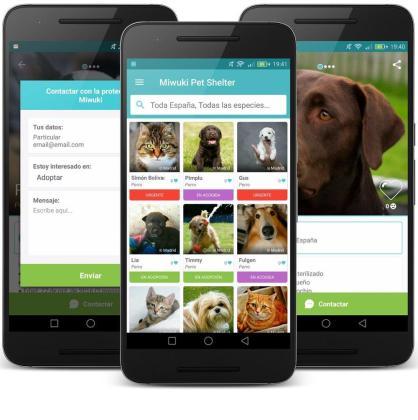 En la imagen, la app Miwuki que permite adoptar animales de todo el mundo.