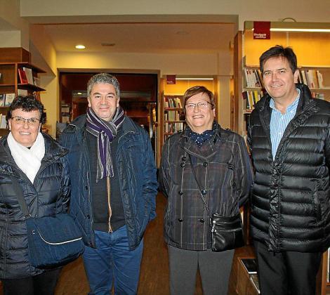 Margarita Requejo de la Fuente, Guillem Cladera, Antonia García y Pepe España.