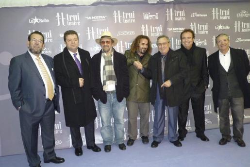 Miguel Jaume, Jordi Lp, Tomeu Penya, Miki Jaume, Manolo Escobar, Dyango y Joan Pera.