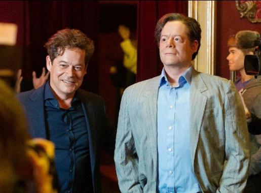 En la imagen, el actor Jorge Sanz junto a su figura de cera.