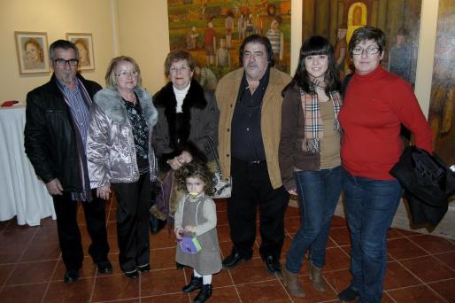 Vicente Muñoz, Margalida Fiol, Mariola Jucadella, Inma Tramullas, Antonio Gomila, María Teresa Gomila y Maria Teresa Nicolau.