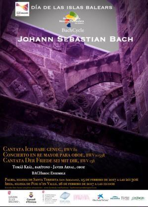Cartel del concierto dedicado a Bach.