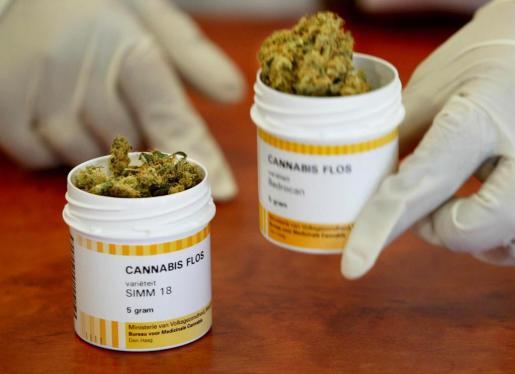 La medida implica que el país importará esta sustancia durante un tiempo, mientras crecen los cultivos de marihuana en el país. En la imagen, marihuana para uso medicinal distribuida en Holanda.
