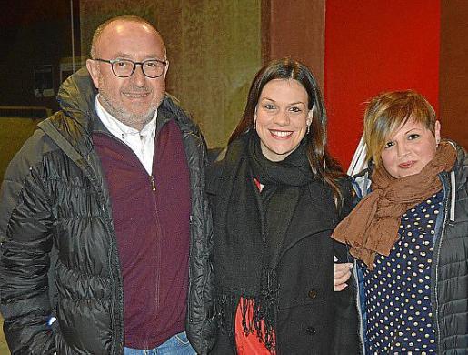 Jesús Fariñas, Joana Gayà y Bàrbara Mascaró.