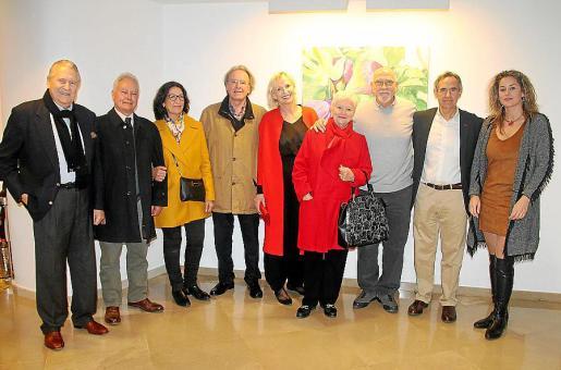Pep Sans, Pep Ferragut, Lourdes Paul, Julio Martínez-Almoyna, Birthe Kragelund, Paquita Tomàs, Joan Vich, Biel Morell y Rosa Vanrell.