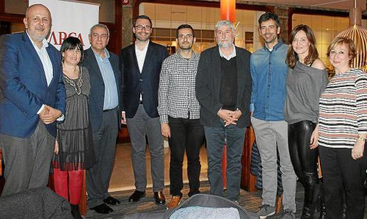 Miquel Ensenyat, Ángels Fermoselle, Pere Ollers, José Hila, Joan Febrer, Ángel Aparicio, Pedro Martínez, Marta Sansegundo y Xisca Quetglas.