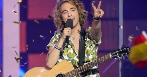 Manel Navarro, durante su participación en 'Objetivo Eurovisión'.
