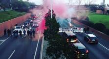 Estudiantes queman contenedores y cortan calles en protesta por las tasas universitarias