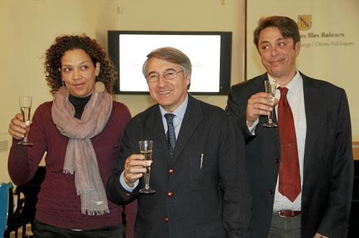 Catalina Cladera, Jaume Carbonero y Antoni Amengual.