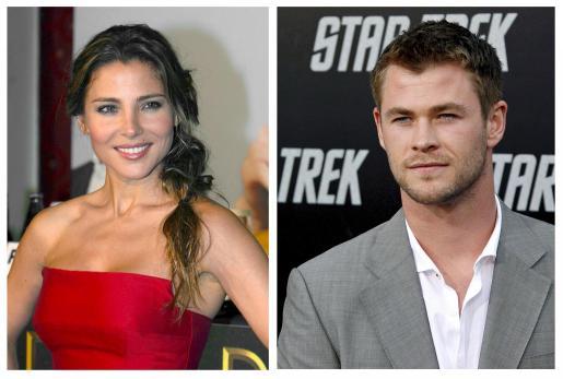 Combo de fotografías de la actriz española Elsa Pataky, de 34 años, y el actor australiano Chris Hemsworth, de 27, que han contraído matrimonio recientemente según publica hoy la edición digital de la revista People.