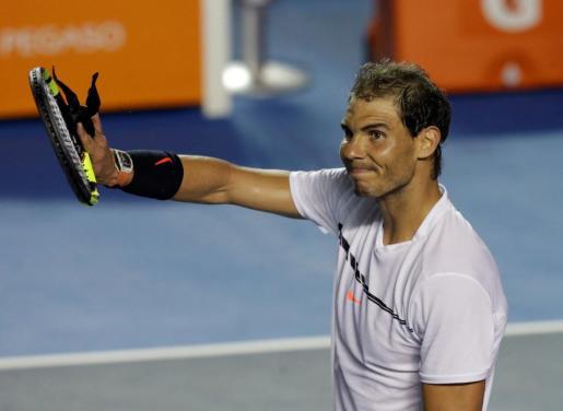 Rafael Nadal, tras el partido.