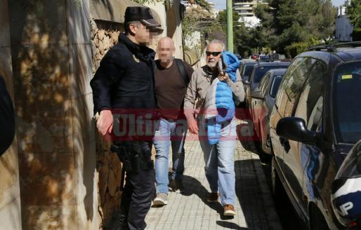 Tolo Cursach, tras ser detenido por la Policía Nacional.