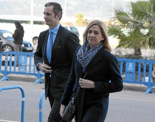 Urdangarin y la Infanta, durante el juicio del 'caso Nóos'.