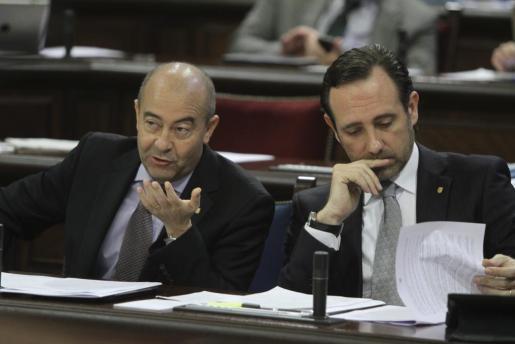 Antonio Gómez y José Ramón Bauzá, en la época en la que formaban el tándem político al frente del PP balear.