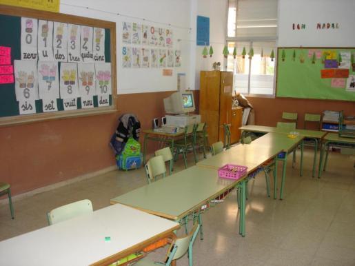 Imagen de archivo de un aula del colegio s'Algar de s'Arenal de Llucmajor.