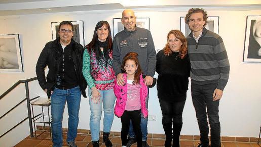 Cesc Noguera, Josefina Serrano, Auba y Felip Femenia, Maria Àngels Coll y Dani Ruano.
