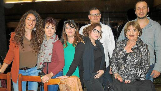Cristina Castelló, Maria del Carmen González, Begoña Lasheras, Antonio Tortonda, Andrea Tallón, Marga Vicens y Fernando Tortonda.