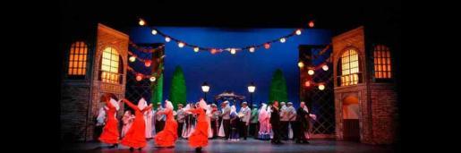 La zarzuela 'La verbena de la paloma' se representa en el Auditórium de Palma.