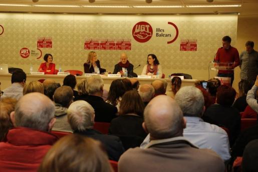 Un momento de la presentación de la Plataforma Baleares con Pedro Sánchez.