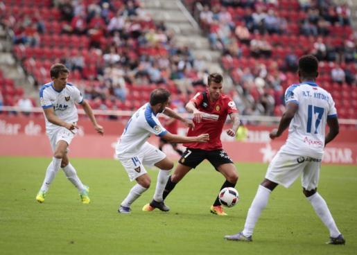 Imagen del partido que enfrentó al Mallorca y al UCAM Murcia en Copa.