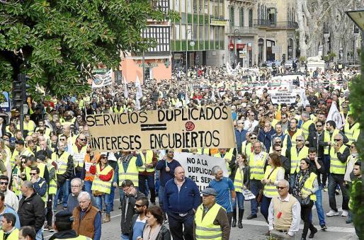 El plan de transportes provocó una masiva protesta de taxistas hace menos de un mes.