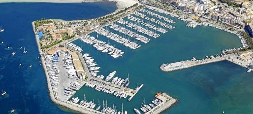 Vista aérea del puerto deportivo de Alcúdia, cuyo ordenamiento urbanístico se basa en la concesión, según el planeamiento.