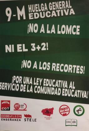 Cartel de la huelga de docentes y estudiantes de las escuelas públicas de este jueves.