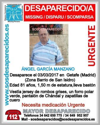 Cartel que denunciaba la desaparición del hombre.