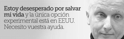 Una de las imágenes que Paco Sanz usa en su web para pedir donaciones a su causa.