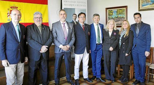 Rafael Xamena, Jaime Planas, Ramon Domingo, Francisco Mata, José Fernández, Marjke Nagel, Maria del Carmen Gómez y Elies Colom.