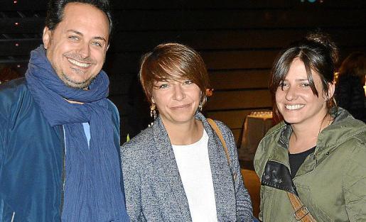 Guillem Pons, Carmen Sancho y Sonia Riquelme.