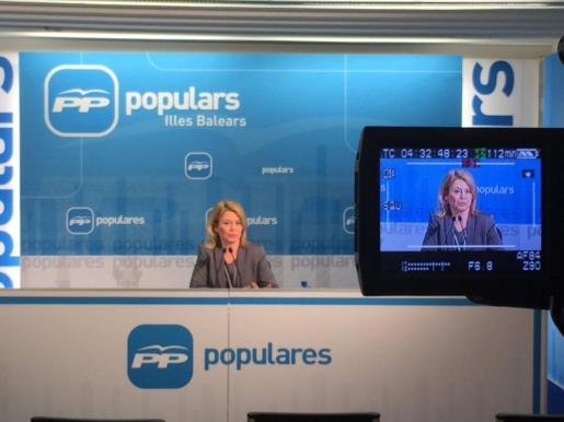Nuria Riera durante la rueda de prensa que ha ofrecido este jueves.